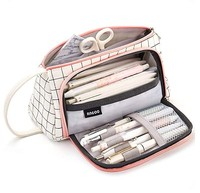 office school girls large-capacity creative pencil bag 2 compartment design