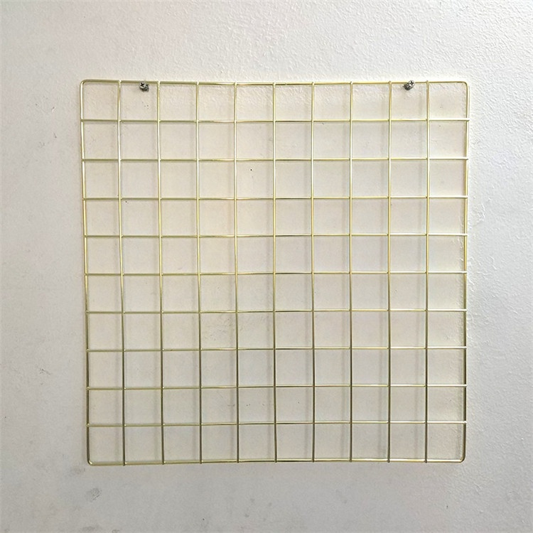 Metal wall hanging grid wire display stands gold wall grid organizer MP-50