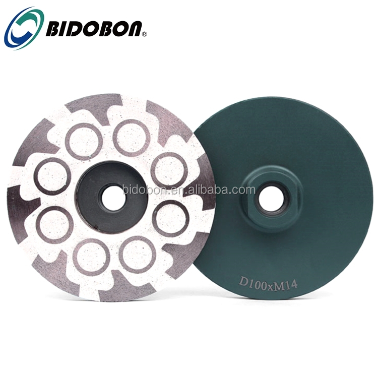 BIDOBON 4 inch T+O Type Resin Filled Turbo Diamond Grinding Cup Wheel for granite Stone