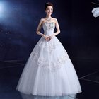 fancy strapless with crystal rhinestone in good workmanship wedding dress 2020 white color red color