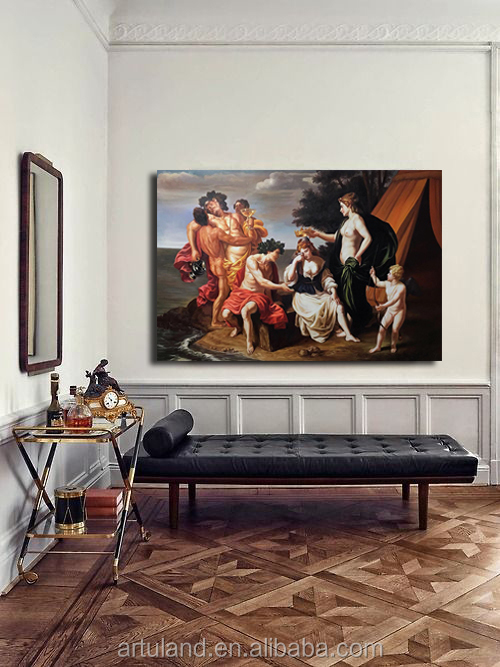 Handmade museum quality classical religion mythology oil painting reproduction Alessandro Turchi Bacchus and Ariadne
