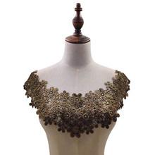 8 цветов Высококачественная кружевная ткань DIY цветочные платья воротник аппликация вышитая аппликация отделка декольте ткань швейные при...(Китай)