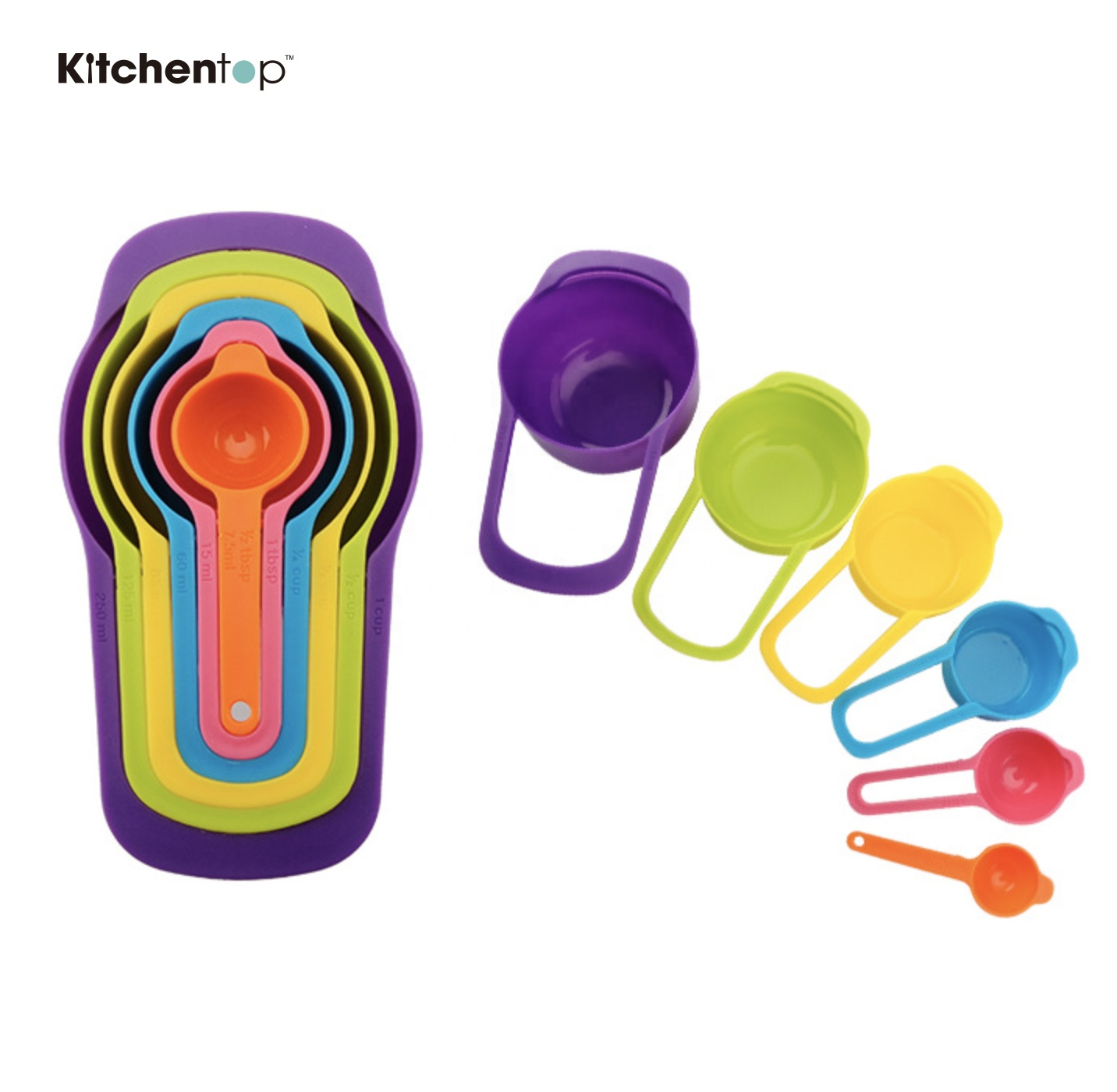 Amazon hot sell colorful <strong>measuring</strong> <strong>spoons</strong>