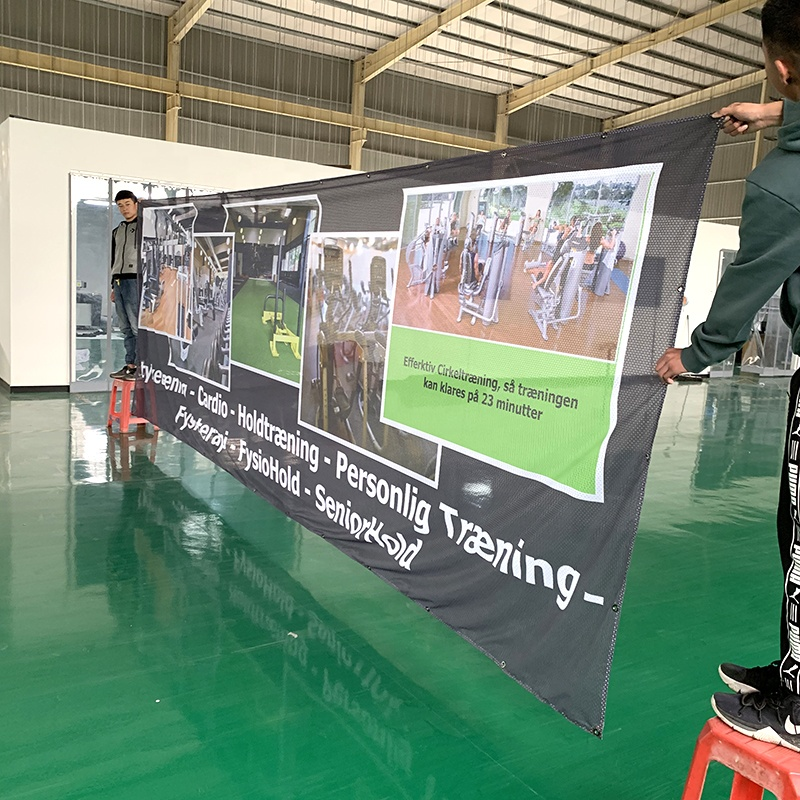 Пользовательские Наружные рекламные сетки ткани ПВХ виниловые печати баннер для продвижения
