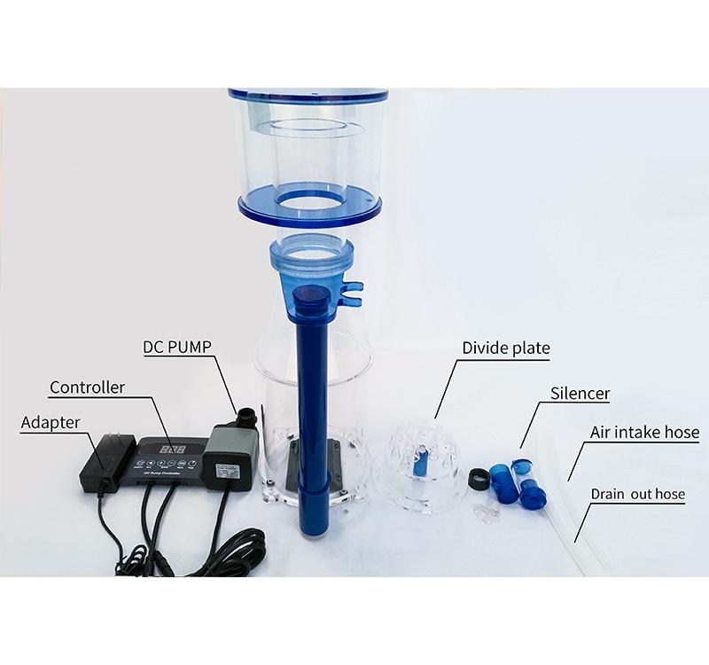 Heto Marine Aquarium Protein Skimmer,น้ำทะเล/น้ำเค็ม/Coral/ReefถังปลาAquarium Protein Skimmer ,DCเข็มปั๊ม