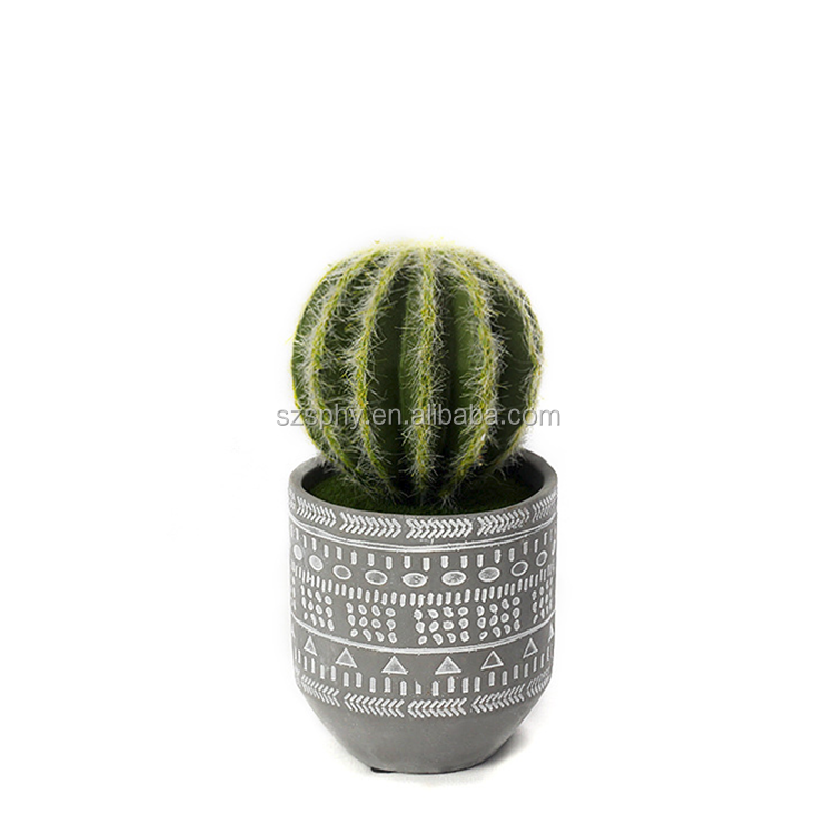 China factory wholesale artificial pot plant plastic prickly pear home decoration