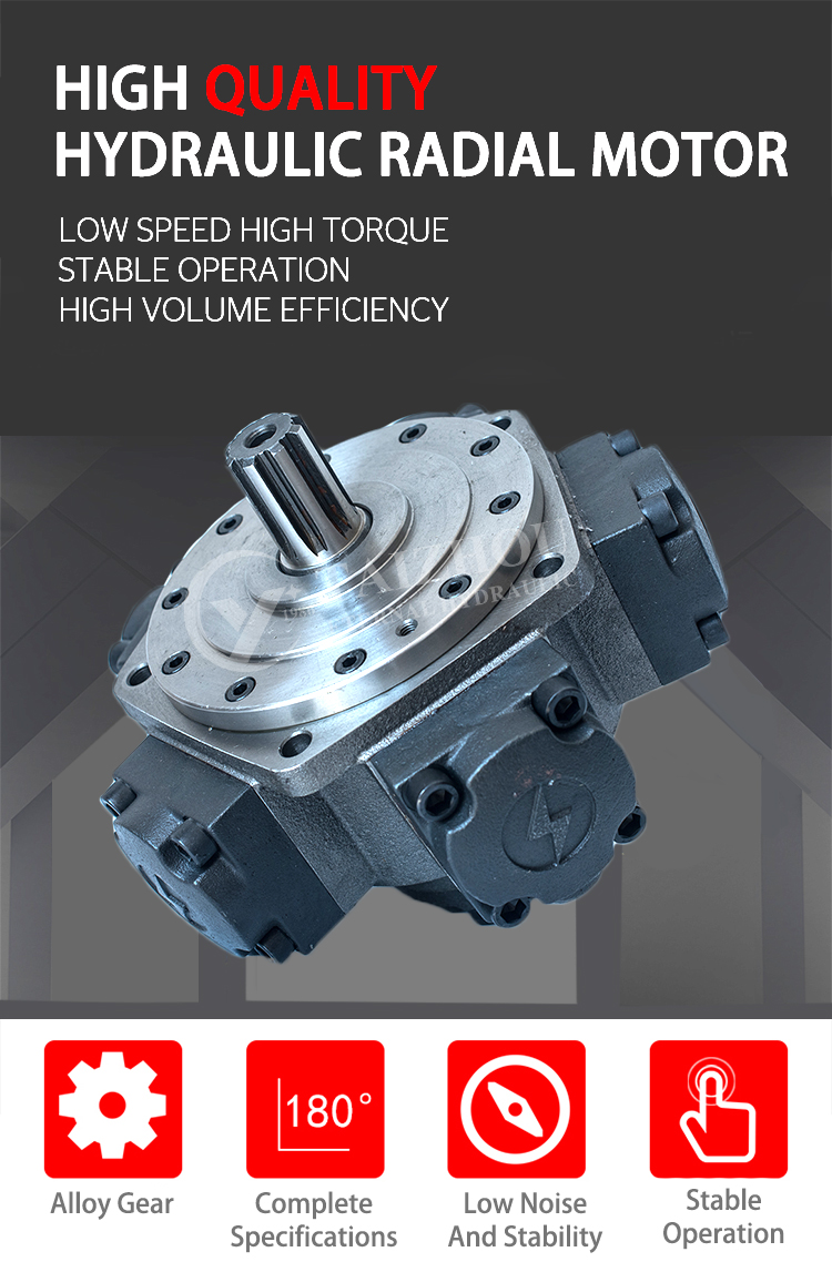 ^ Taizhou EM 16 Series High Torque Radial Piston Motor Low Speed Hydraulic Motor Replace Staffa Intermot