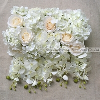 LFB411-5 luckygoods artificial orchid wedding reception flowers wedding silk table flower garland