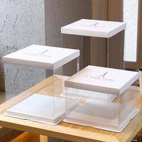 Hot Sale Clear Cake Box, Transparent PET Plastic Box Packaging