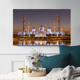 China Factory Wholesale Light Up Painting Canvas Islamic Building Art Painting For Home Decor