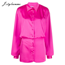 Customized lange hülse fushia satin hemd <span class=keywords><strong>kleid</strong></span> für frauen taste up <span class=keywords><strong>cinched</strong></span> <span class=keywords><strong>taille</strong></span> polyester mini <span class=keywords><strong>kleid</strong></span> Sommer