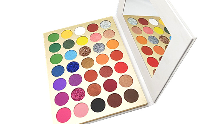Nouveau Maquillage ombre à paupières cosmétiques personnalisé paillettes 35 couleurs super pigmenté fard à paupières étiquette privée