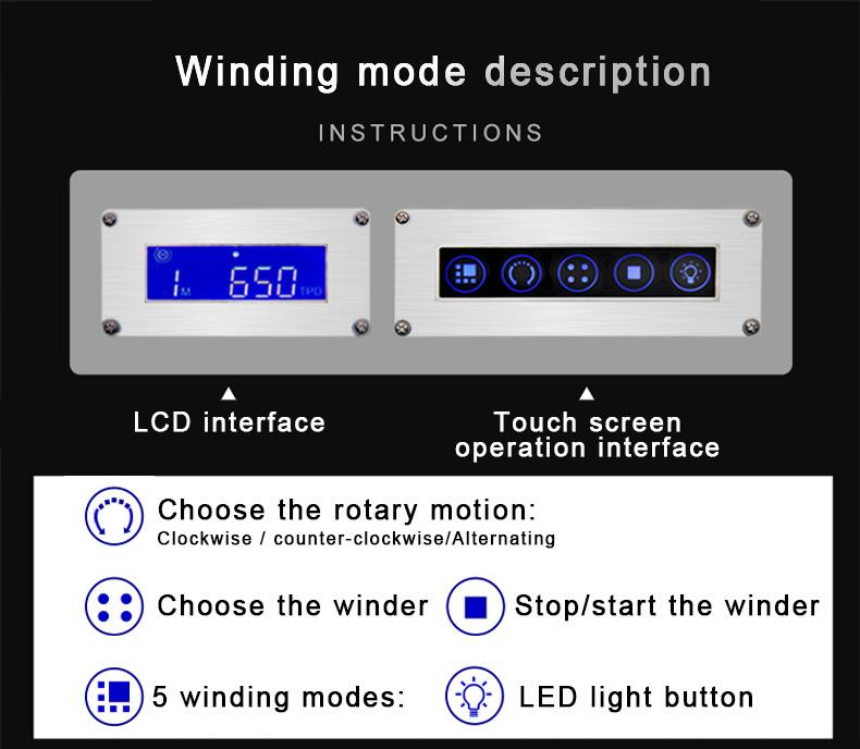 6 자동 로테이터 모터 3 v dc 나무 상자 시계 와인 더 자동