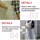 Wholesale Eco-Friendly Colored Colorful Pe Waterproof Plastic Disposable Apron