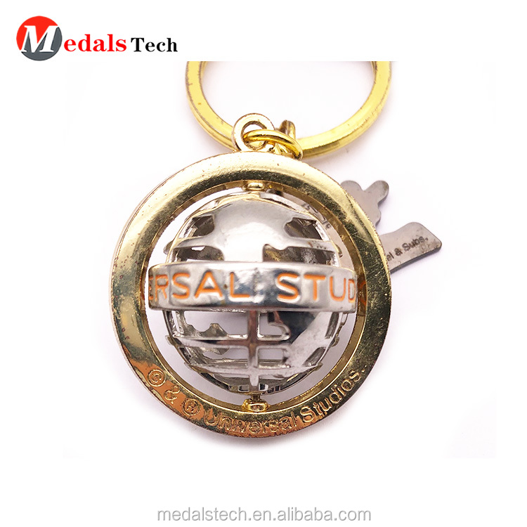 Factory price  customized metal 3d logo  alphabet keychain