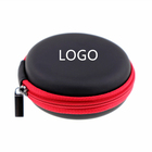 Wholesale New Style Round Small Custom Logo Mini Leather Carry Protective Zipper Hard Shell Portable Eva Travel Earphone Case