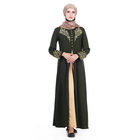 New Designs Islamic Clothing Muslim Dress Pakistani Fancy Casual Open Abaya For Girl