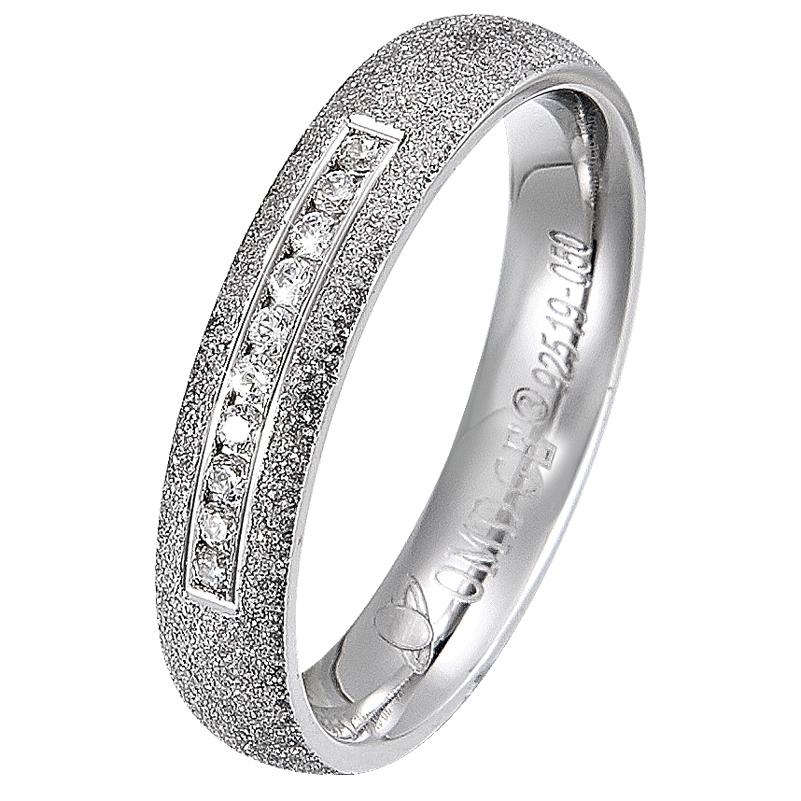 wholesale fashion jewellery Rhodium plated 925 sterling silver ring for wedding band