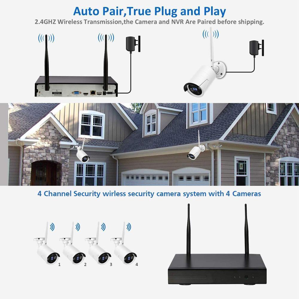 Sunivision 8CH 1080P HD WiFi NVR 2.0MP IR Outdoor Weatherproof CCTV Wireless IP Camera Surveillance System
