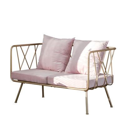 फर्नीचर फैशन गुलाबी गढ़ा धातु सोफे कुर्सी कमरे में रहने वाले एकल अवकाश आरामदायक झुकनेवाला सोफे