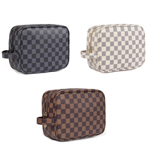 Luxe Geruite Travel toilettas PU Leather Case <span class=keywords><strong>Cosmetische</strong></span> Make Up Bag