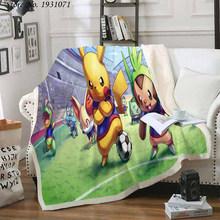 Флисовое одеяло с 3D принтом Покемон Пикачу для кроватей, толстое одеяло, модное покрывало, покрывало для взрослых детей 04(Китай)