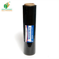 23mic Black LLDPE Wrapping Film Pallet Stretch Film