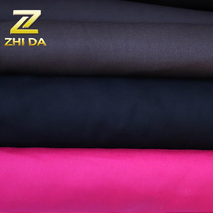 Chinese factory made customized dyed 100% cotton twill fabric price for designer purses