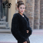 Genuine Ostrich Feather Fur jacket Turkey Fur Coat Fashion Outerwear Multi Colors
