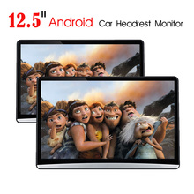 Android 9.0 8 core da 12.5 pollici auto poggiatesta monitor con touch screen hdmi wifi bluetooth