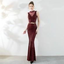 YIDINGZS темно-синее вечернее платье с блестками Элегантное Длинное Вечернее Платье С Бисером YD16273(Китай)