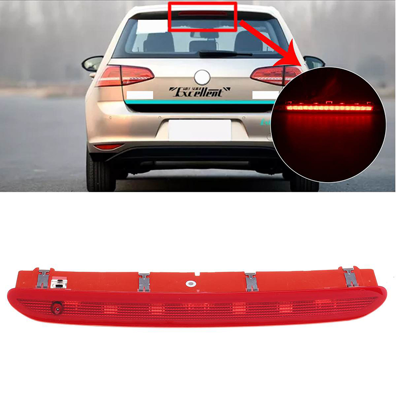 12V Car LED High Level Rear Third Brake Light Tail Stop Lamp Wite+Red for VW Golf MK 5 6 Gti Rabbit for Passat B6 B7 for Tiguan