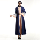 New Trendy Islamic Clothing Blue Kaftans Moroccan Maxi Muslim Praying Dress For Woman