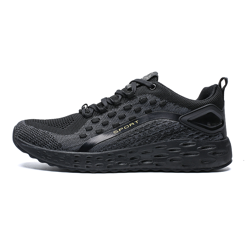 2019 New arrival model knitted running shoes sports trainers for men