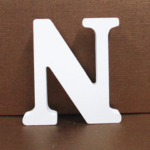 Деревянные буквы Белый Алфавит Свадьба День Рождения украшения дома W316(Китай)