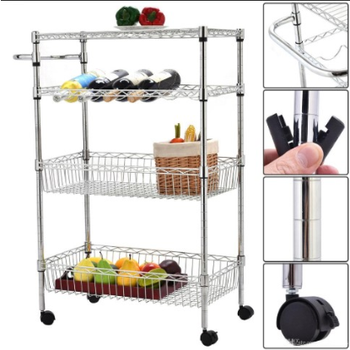 High quality stainless steel wire shelving heavy duty shelving rack