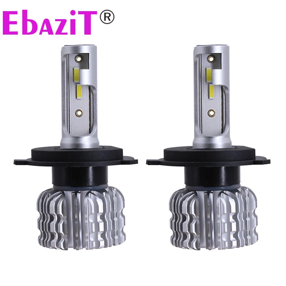 EbaziT 스마트 h7 led 전구 원료 CSP 슈퍼 밝은 자동 자동차 led 헤드 라이트 팬 분산