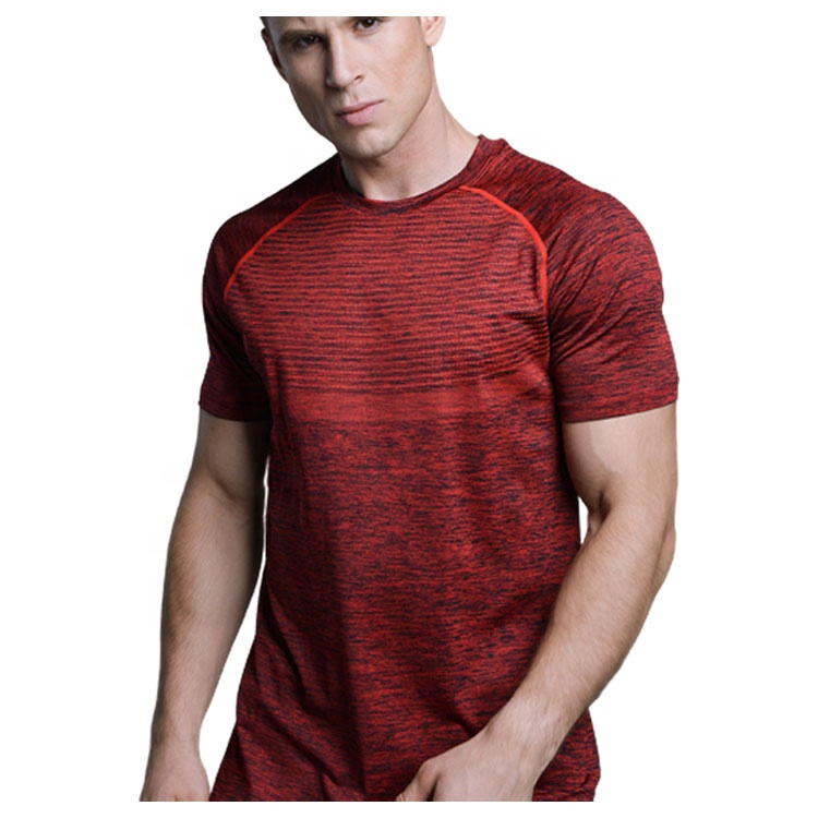 Polyester Spandex Hommes T-shirt Fitness Sec Fit T-shirt Avec Logo