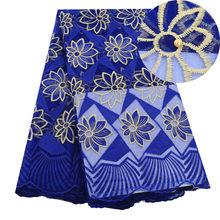 Африканская сетчатая кружевная ткань, Высококачественная элегантная нигерийская свадебная ткань кружевная, 5 ярдов, французский тюль, круж...(Китай)