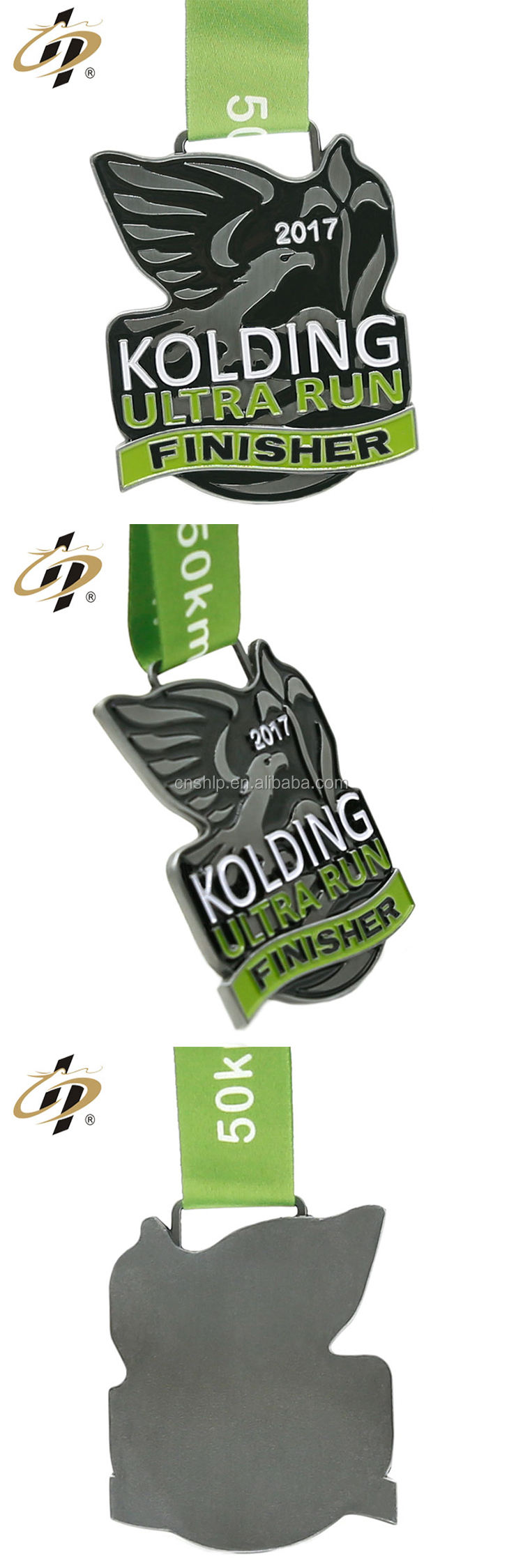 Custom your own antique sliver ultra run finisher metal medal with ribbon