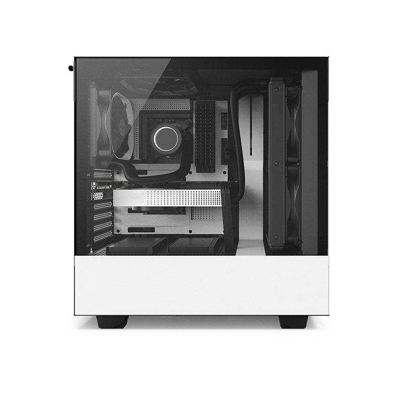 Water cooler master computer case tempered glass side permeable built-in silent fan custom computer case buy computer in china