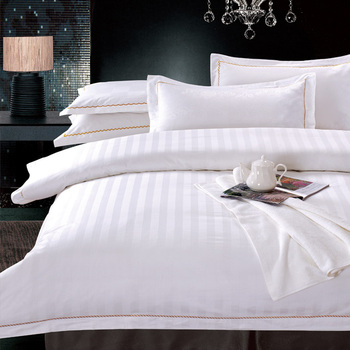 Any size available 100% cotton luxury hotel home textile white bedding sets hotel bed linen bedding set bed sheet