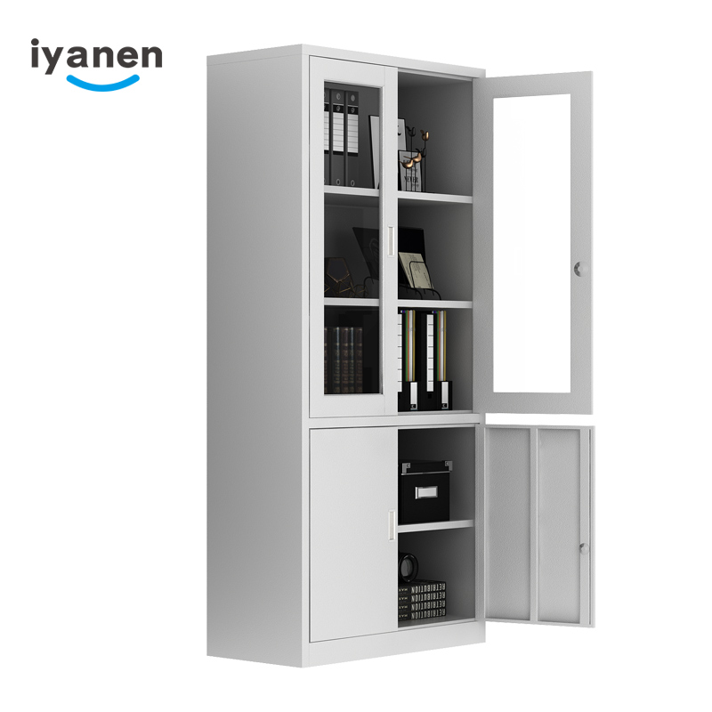 salon bookcase storage glass door cardboard storage file cabinet