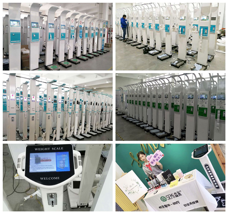 weight and height measuring machine balance connected china electronic new products bmi height weight machine scale