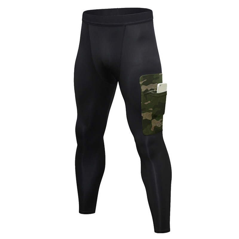 Men's Compression Pants Workout Leggings Training Running Tights Athletic Base Layer Cool Dry Pants with Pocket 7