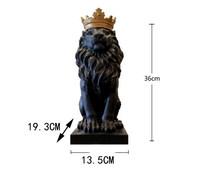 Черная Корона статуя льва украшения ручной работы рождественские украшения для домашняя скульптура escultura аксессуары для украшения дома(Китай)
