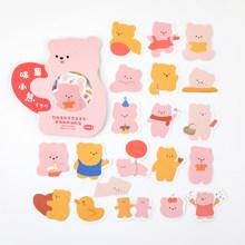 40 шт. милые наклейки с кремом, кроликом и медведем, наклейки для скрапбукинга, наклейки для дневника, стикеры для альбомов, Kawaii, корейские Кан...(Китай)