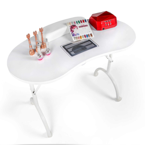 Beauty Salon Furniture Portable Folding cheap luxury modern Nail Spa black white Manicure Table