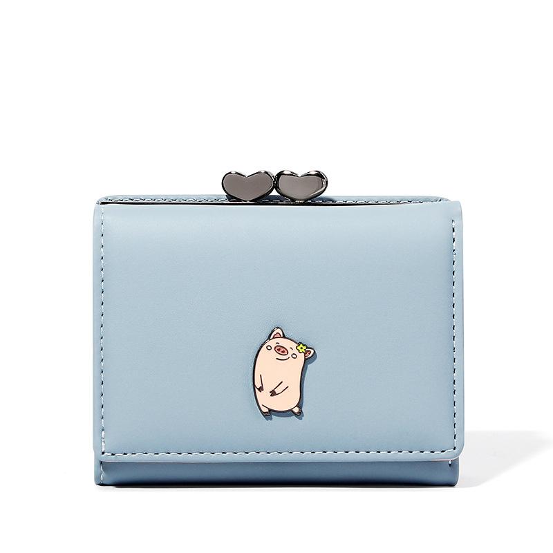 Новинка 2020, женский короткий кошелек с тремя сложениями, модный кошелек, кошелек, сумка для карт