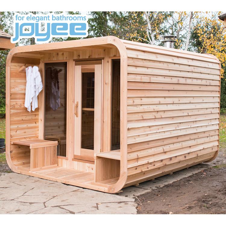 Gaya Baru Pabrik Langsung Harga Outdoor Uap Mandi Sauna/Outdoor Sauna dengan Atap Kayu Sauna Outdoor